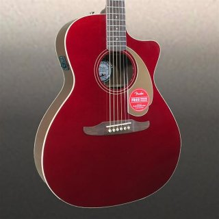Fender Newporter Player Acoustic Guitar Candy Apple Red ギター