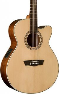 Washburn Harvest Series WG7SCE Acoustic-Electric, Solid Spruce Top, Mahogany Back & Sides, New ギター