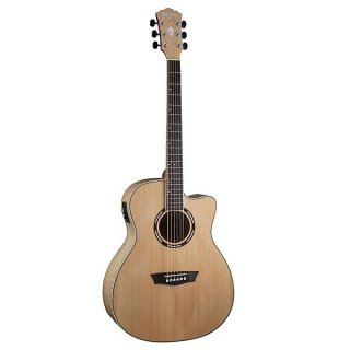 Washburn Apprentice GA Flame Maple Acoustic Guitar Natural with case ギター