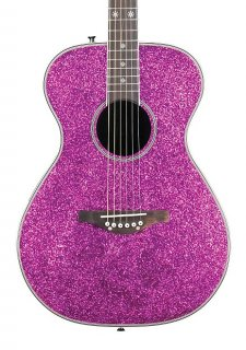 Daisy Rock DR6225-A Pixie Acoustic/Electric, Pink Sparkle, New, Free Shipping ギター