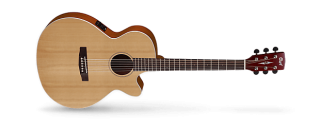 Cort SFX1F - Right Handed 2018 Natural Satin-Slim Body-Acoustic/Electric ギター