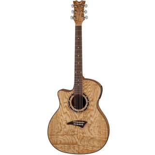 Dean Exotica Quilt Ash Lefty Acoustic-Electric Guitar - Gloss Natural ギター