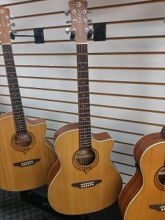 Luna Guitars Heartsong Grand Concert Acoustic Electric Guitar Natural SONG GC ギター
