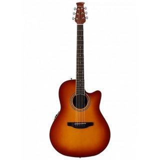 Ovation Applause Balladeer AB24II Cutaway Acoustic-Electric Guitar Honey Burst ギター