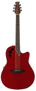 Ovation Applause Elite Acoustic Electric Guitar - Trans Cherry Flame ギター