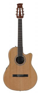 Ovation Cutaway Guitar Applause Balladeer Plus Nylon String Acoustic Electric ギター