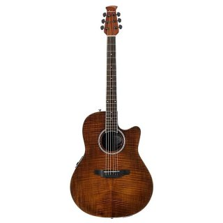 Ovation Balladeer Plus Acoustic Elecytic Guitar - Vintage Flame ギター