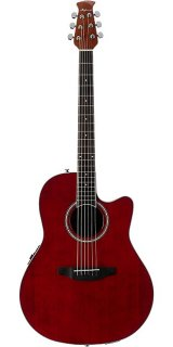 Ovation Applause Balladeer Mid-Depth Acoustic-Electric Guitar - Ruby Red ギター