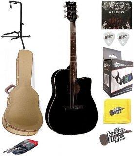 Dean AX DCE CBK AXS Dreadnought Cutaway A/E Guitar w/GD Hard Case + More ギター