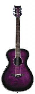 Daisy Rock Pixie Acoustic-Electric Guitar, Plum Purple Burst, DR6222 ギター