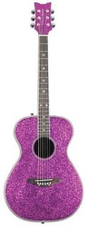 Daisy Rock Pixie Acoustic-Electric Pink Sparkle Guitar, DR6225 ギター