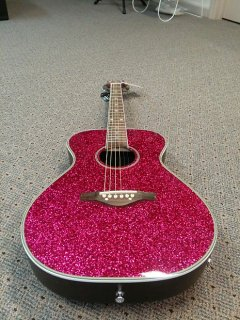 Daisy Rock Pixie guitar Acoustic electric starter pack Pink Sparkle ギター