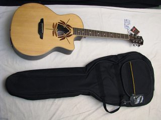 LUNA Oracle Dragonfly acoustic electric GUITAR w/ FREE BAG - Solid Spruce Top ギター