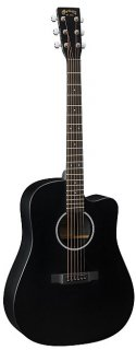 Martin DCXAE Black Cutaway Acoustic Electric Guitar - Black ギター