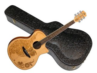Luna Henna Oasis 2 Spruce solid top Acoustic Electric guitar NEW - Fishman preamp w/ Hard Case ギター