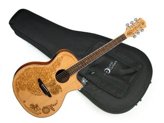 Luna Henna Oasis 2 Spruce solid top Acoustic Electric guitar NEW - Fishman preamp w/ Light Case ギター