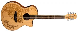 Luna Henna Oasis 2 Spruce solid top Acoustic Electric guitar NEW - Fishman preamp ギター