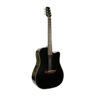 New Boulder Creek Solitaire Spruce/ Mahogany 5 String Guitar in Gloss Black ECR1-B ギター