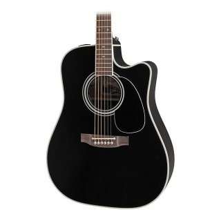 Takamine EF341SC Acoustic Guitar in Black Finish with Hard Case ギター