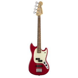 Fender Mustang PJ Bass 4 String Bass In Torino Red ギター