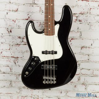 Fender Standard Left-Handed Jazz Bass Pau Ferro Fingerboard Black ギター