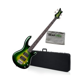 Dean Edge 3 Green Metallic Burst Electric Bass Guitar Bundle ギター