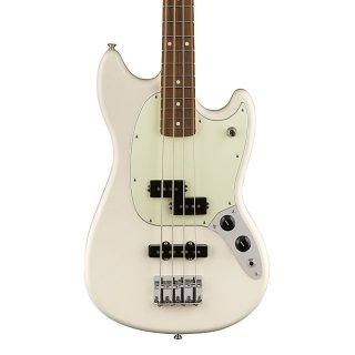 Fender Mustang PJ 4 String Bass in Olympic White ギター