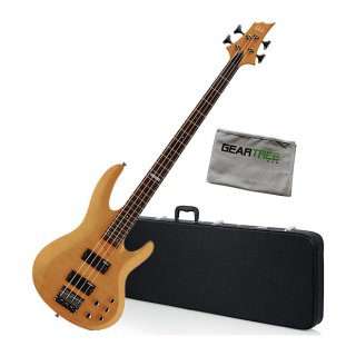 ESP LTD B154DX Honey Natural Electric Bass Guitar Bundle ギター
