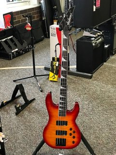 Jackson JS3Q Cherry Burst 4 String Bass Guitar ギター