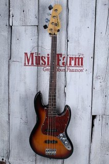Fender? Squier Vintage Modified 4 String Electric Jazz Bass Guitar 3TS Sunburst ギター