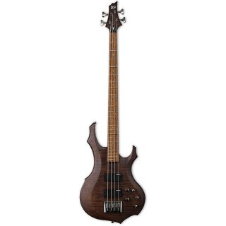 ESP F-204FM Walnut Brown Satin 4-String Bass Guitar ギター