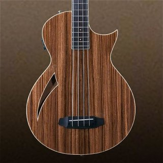 ESP LTD Zebrawood Thinline 4-String Electric Bass Natural ギター