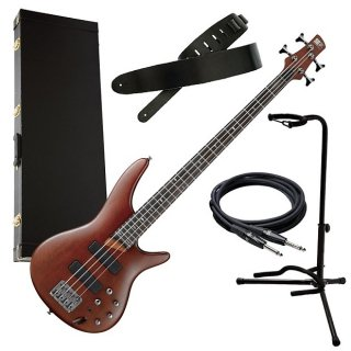 Ibanez SR500 4-String Bass Guitar - Brown Mahogany BASS ESSENTIALS BUNDLE ギター