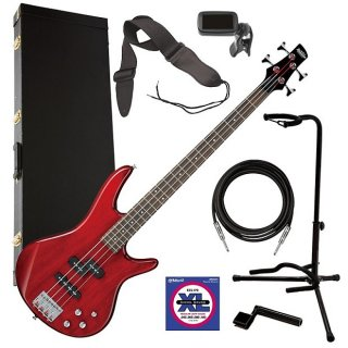 Ibanez GSR200 4-String Bass Guitar - Transparent Red COMPLETE BASS BUNDLE ギター