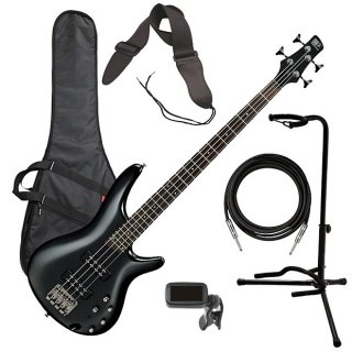 Ibanez SR300E 4-String Bass Guitar - Iron Pewter BASS ESSENTIALS BUNDLE ギター