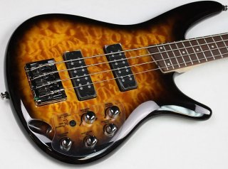 Ibanez SR400EQM Quilted Maple Electric Bass, Dragon Eye Burst, NEW! #ISS2207 ギター