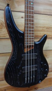 New Ibanez SR670SKF Electric Bass Guitar Silver Wave Black Flat ギター