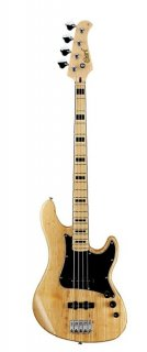 Cort GB Series GB54JJ 4-String Electric Bass Guitar, Natural ギター