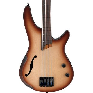 Ibanez Bass Workshop - Fretless Hollowbody - Natural Browned Burst ギター