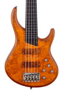 Michael Tobias MTD Kingston Z5 Electric Bass // Ebony Neck Fretless with Lines - Satin Amber ギター