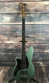 Reverend Left Handed Mercalli 4 Electric Bass - Metallic Alpine - Bass Only ギター