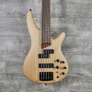 Ibanez SR655 5-String Electric Bass Guitar Natural Flat ギター