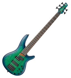 Ibanez SR Series SR655 5-String Active/Passive Electric Bass - Surreal Blue Burst ギター