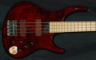 MTD KZ4 4 String Maple Trans Cherry ギター