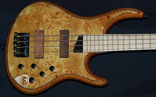 MTD KZ4 4 String Maple Burl Maple ギター
