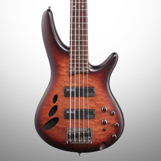 Ibanez SR30TH5 Standard Electric Bass, 5-String, Natural Brown Flat Burst ギター