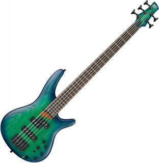 Ibanez SR Standard SR655 5 String Electric Bass Surreal Blue Burst ギター