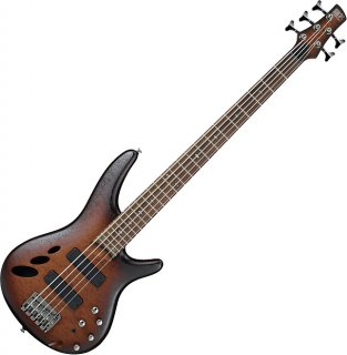 Ibanez SR Standard SR30TH5 5 String Semi-Hollow Electric Bass Natural Browned Burst Flat ギター