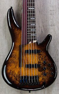 Ibanez SRAS7 DEB 7-String Hybrid Fretless/Fretted Bass, Dragon Eye Burst ギター