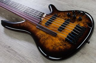 Ibanez SRAS7 7-String Hybrid Fretless/Fretted Bass Dragon Eye Burst + Hard Case ギター
